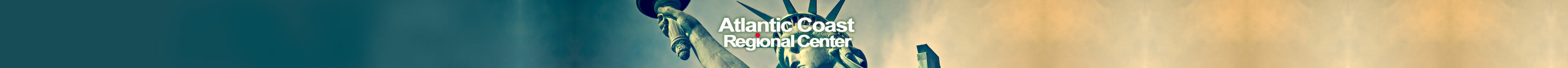 Atlantic Coast Regional Center header close-up of Statue of Liberty head and torch.