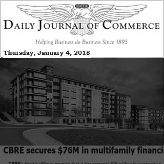 Daily Journal of Commerce news cover image January 04, 2018.