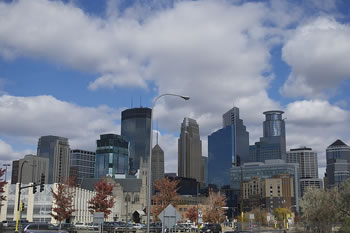 EB-5 Regional Center in Minnesota. Photo of downtown Minneapolis, Minnesota.