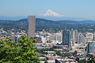 EB-5 Regional Center in Oregon. Photo of downtown Portland, Oregon