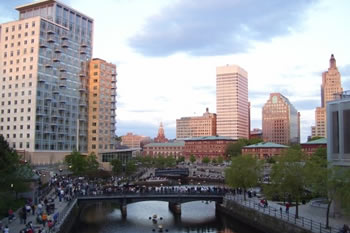 EB-5 Regional Center in Rhode Island. Photo of downtown.