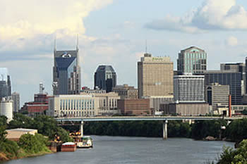 EB-5 Regional Center in Tennessee. Photo of downton Nashville, Tennessee.