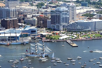 EB-5 Regional Center in Virginia. Photo of downtown Norfolk, Virginia.