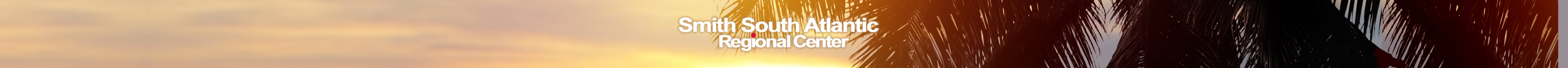 Smith South Atlantic Regional Center header with palm trees on beach.